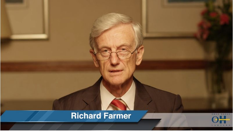 Video from http://www.owenhodge.com.au/richard-farmer/